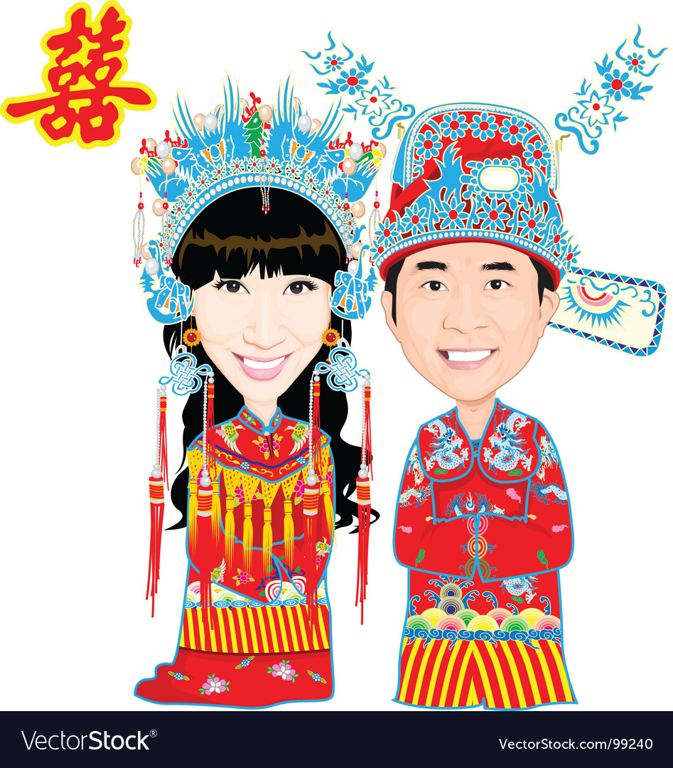 Chinese wedding vector image