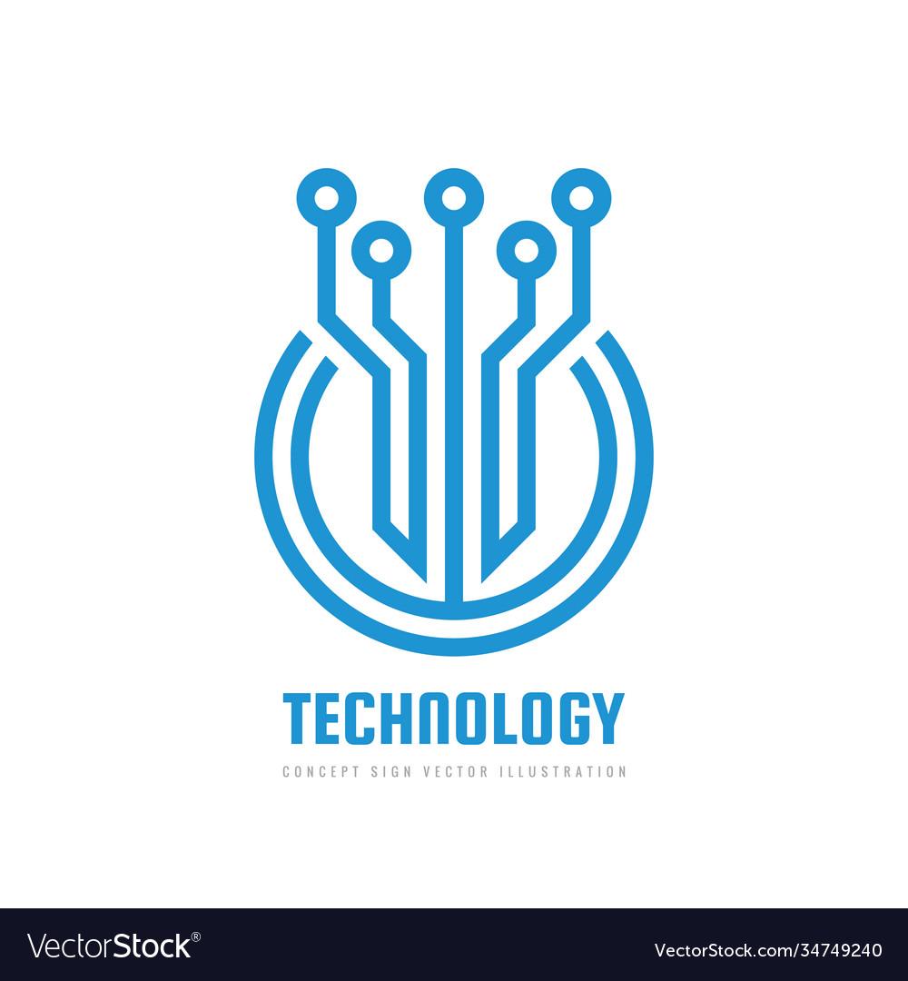 Digital technology - logo template