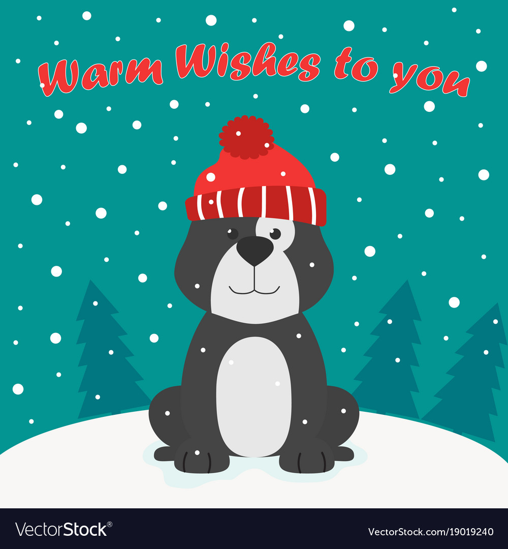 Greeting card with funny dog