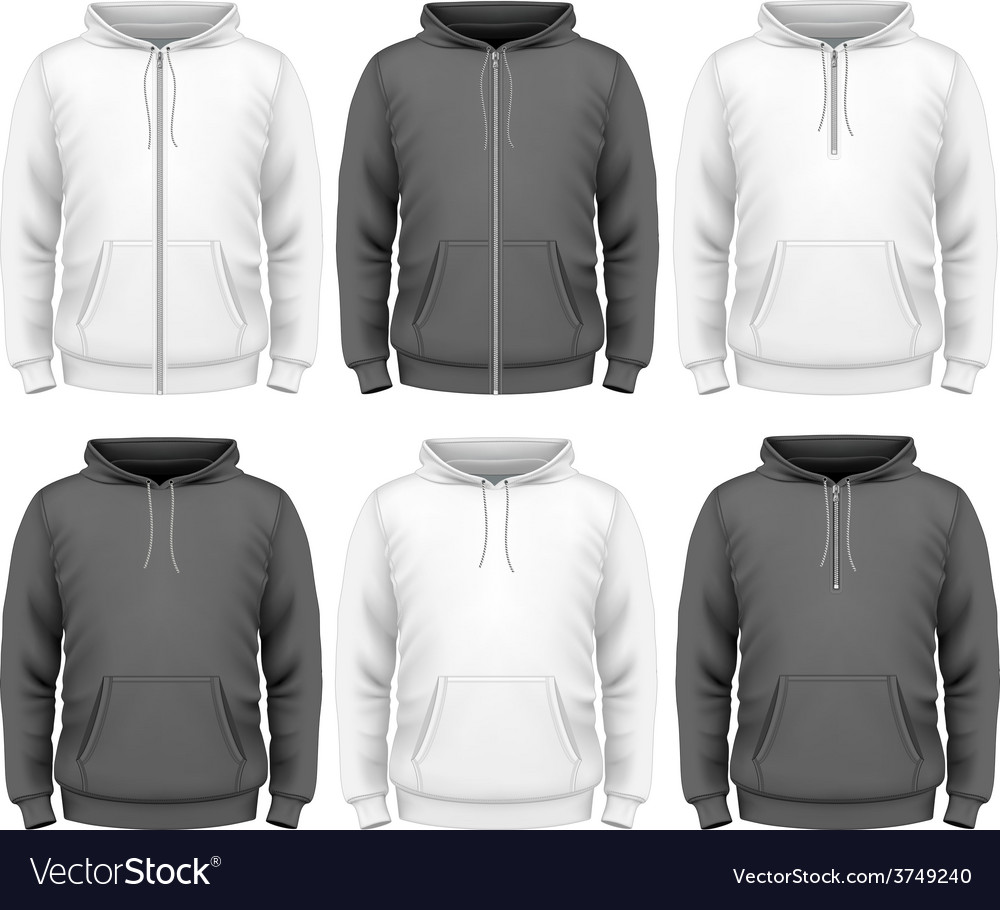 Men hoodie vector image