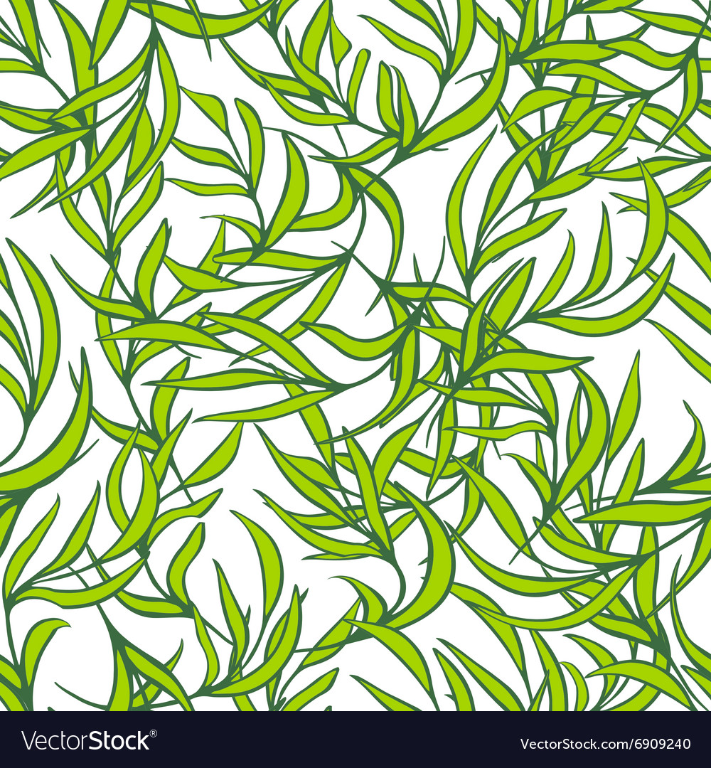 Natural leaves seamless pattern Hand drawn