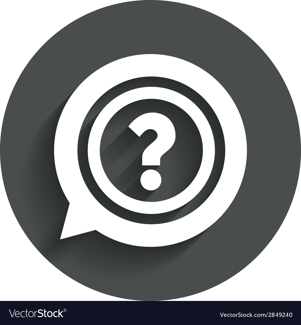 Question mark sign icon help symbol