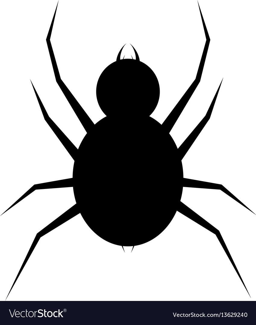 Spider icon flat spider