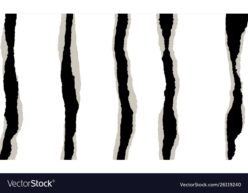 Torn paper design element