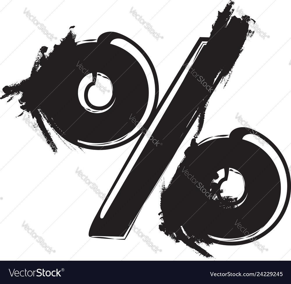 Abstract percent symbol