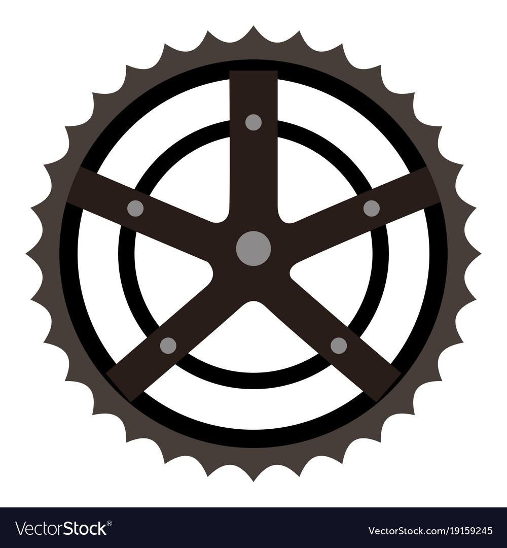 Bicycle sprocket isolated icon