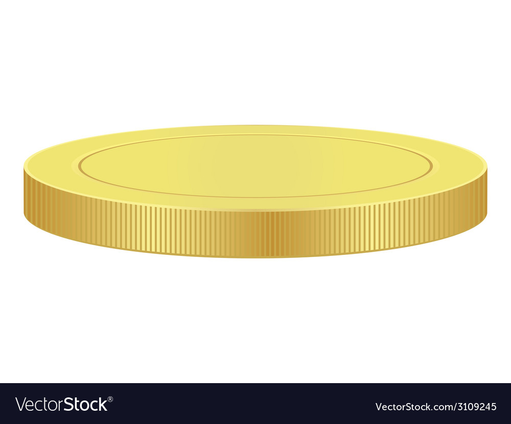 Blank gold coin vector image
