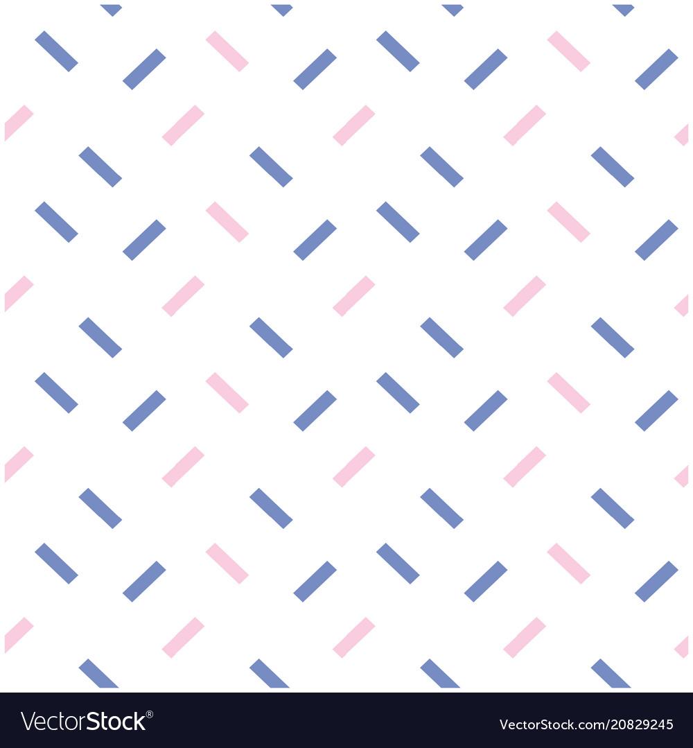 Blue pink mini bar pattern white background