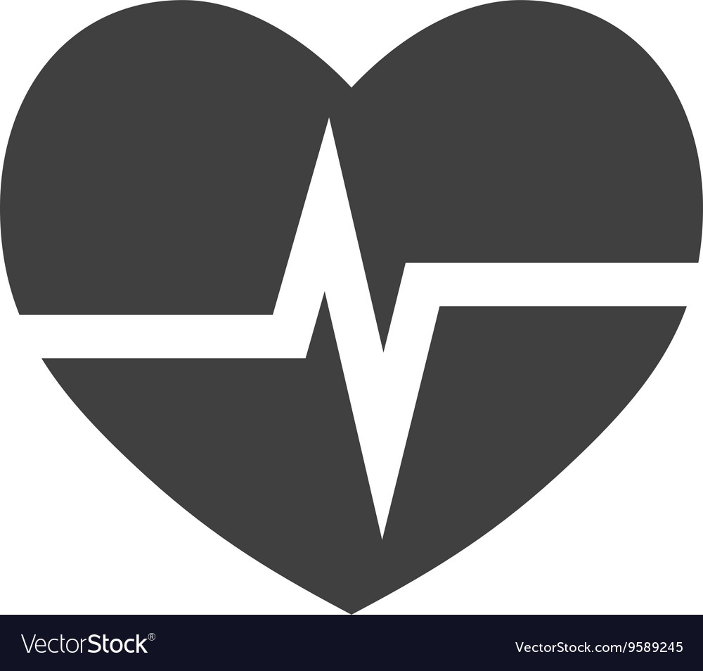 Cardiology heart icon Medical and health care