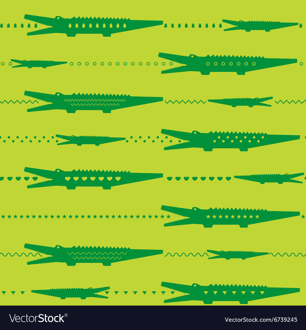 Crocodile seamless pattern vector image