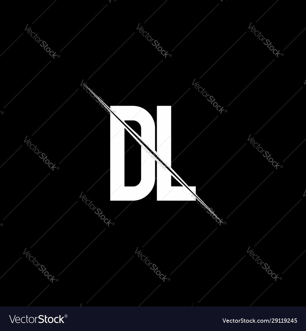 Dl Logo Monogram With Slash Style Design Template Vector Image