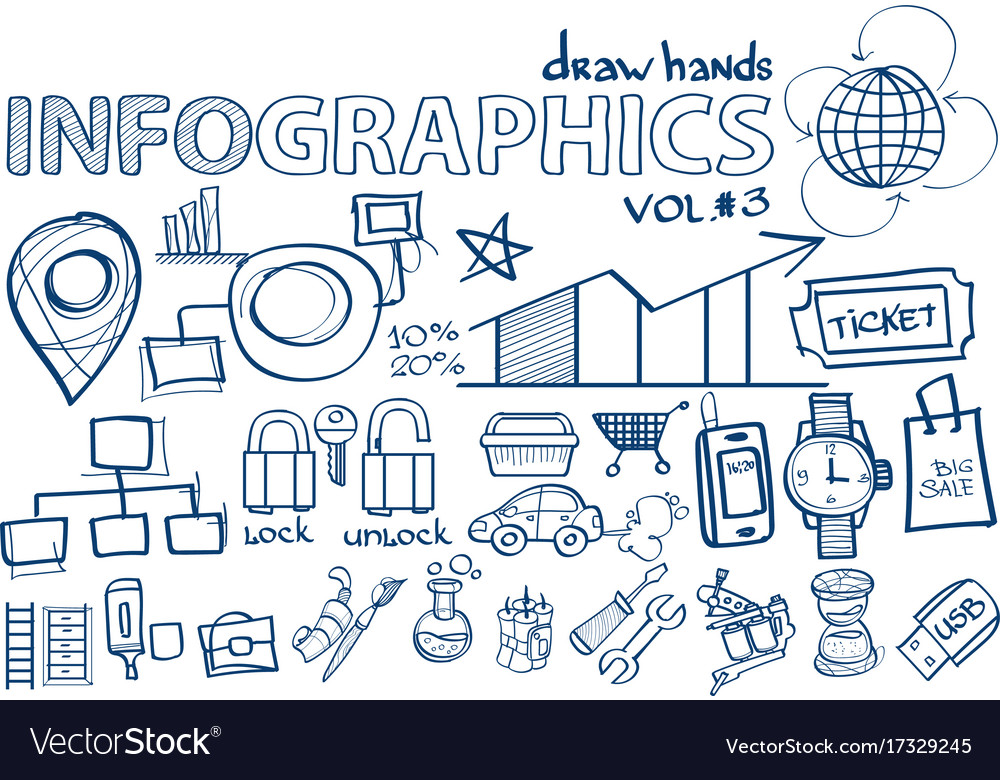 Hand draw infographics vol 3 marketing