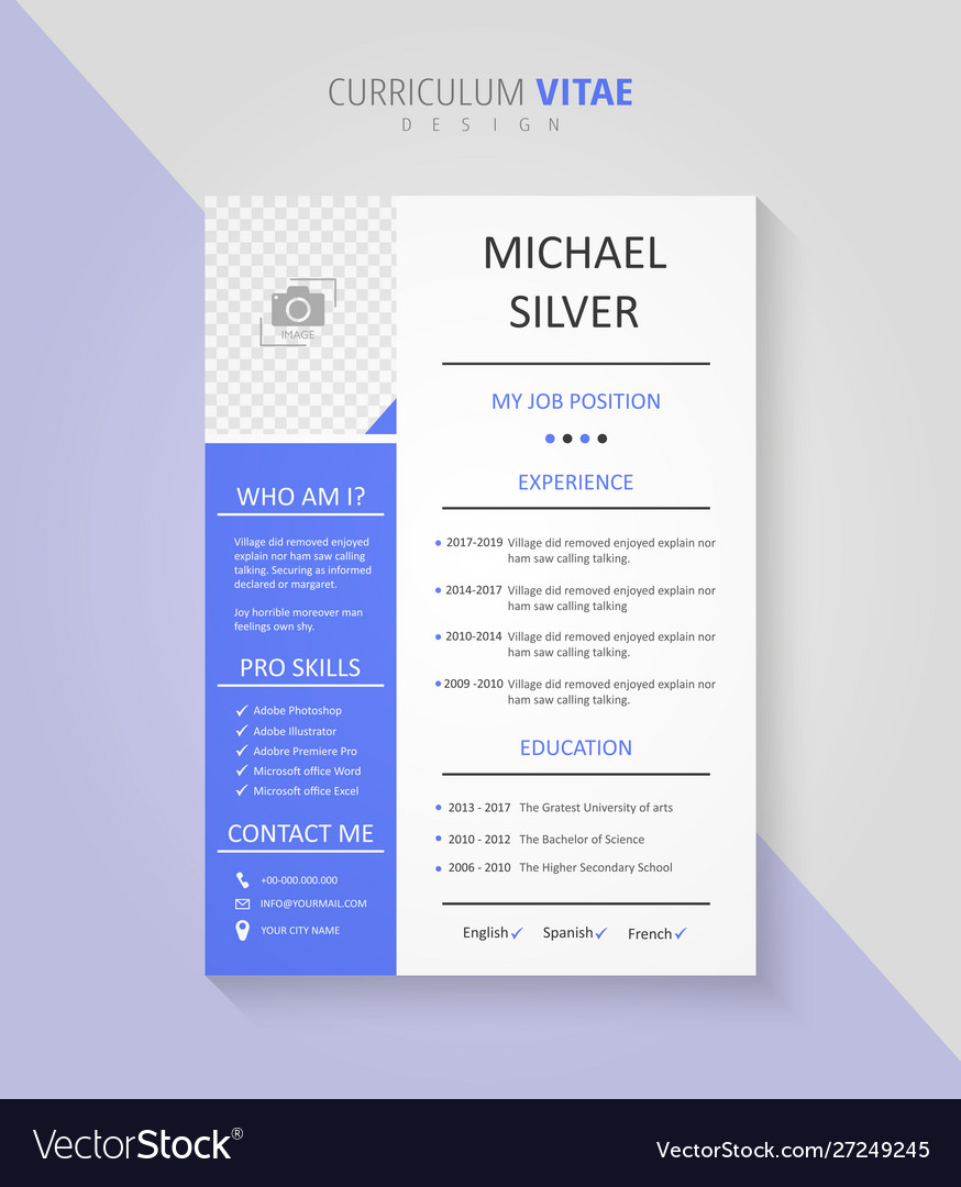 Professional Curriculum Vitae Document Design