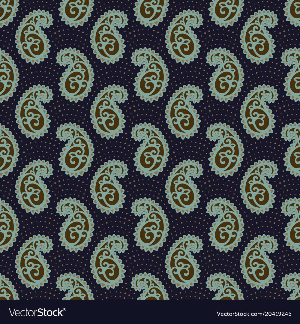 Seamless Paisley Pattern Royalty Free Vector Image