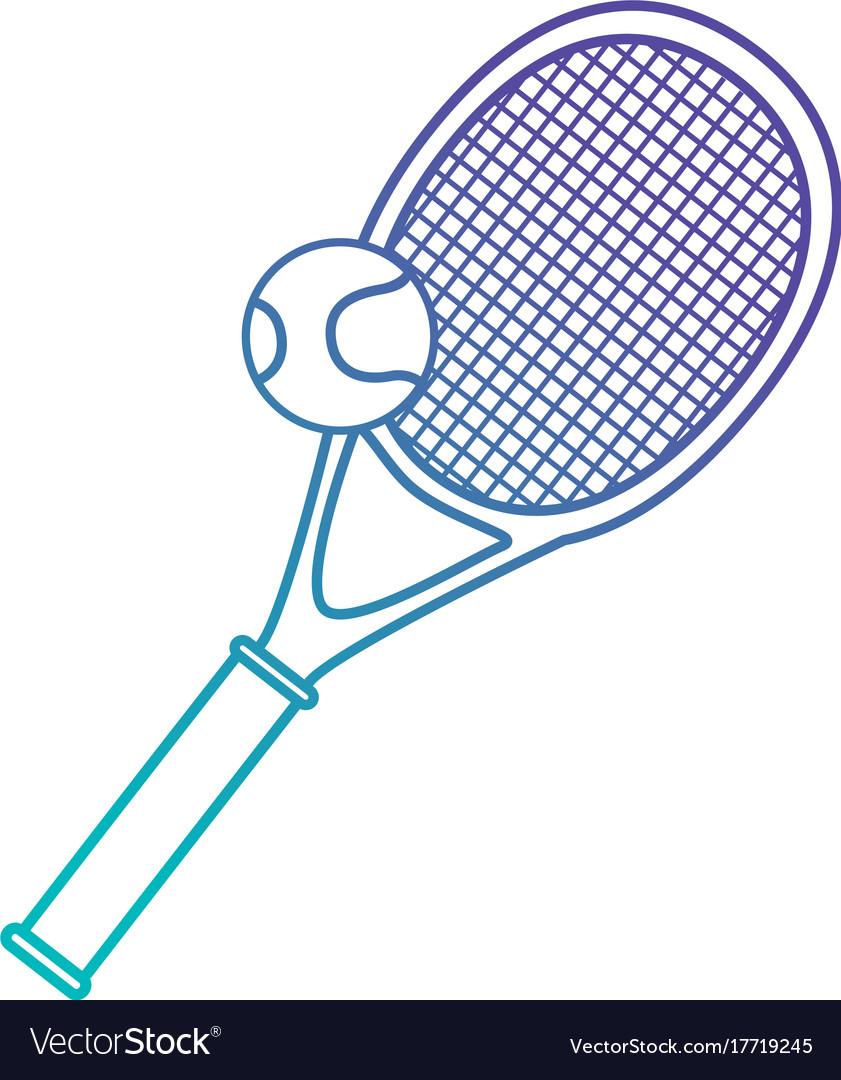 Tennis sport racket with ball