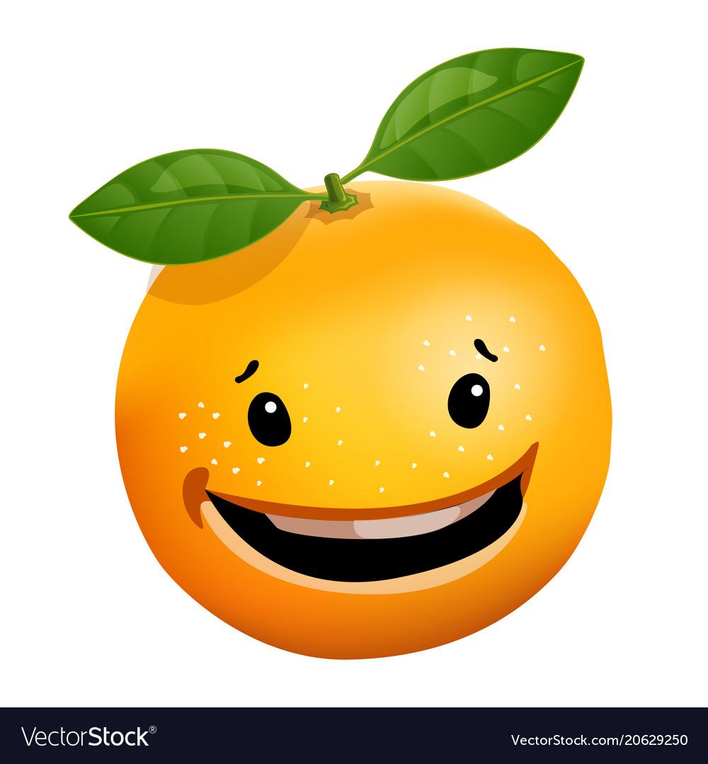3d stile of orange cartoon character