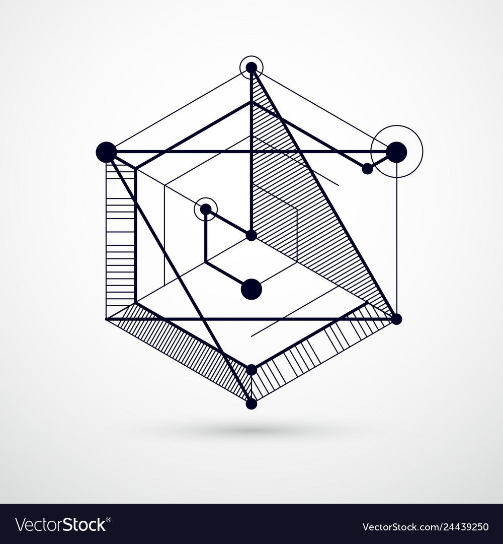 Abstract creative geometric art with a variety of