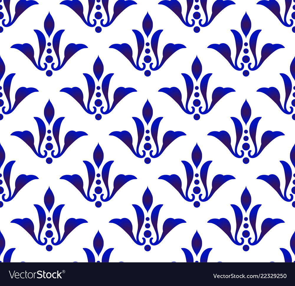 Abstract floral blue pattern