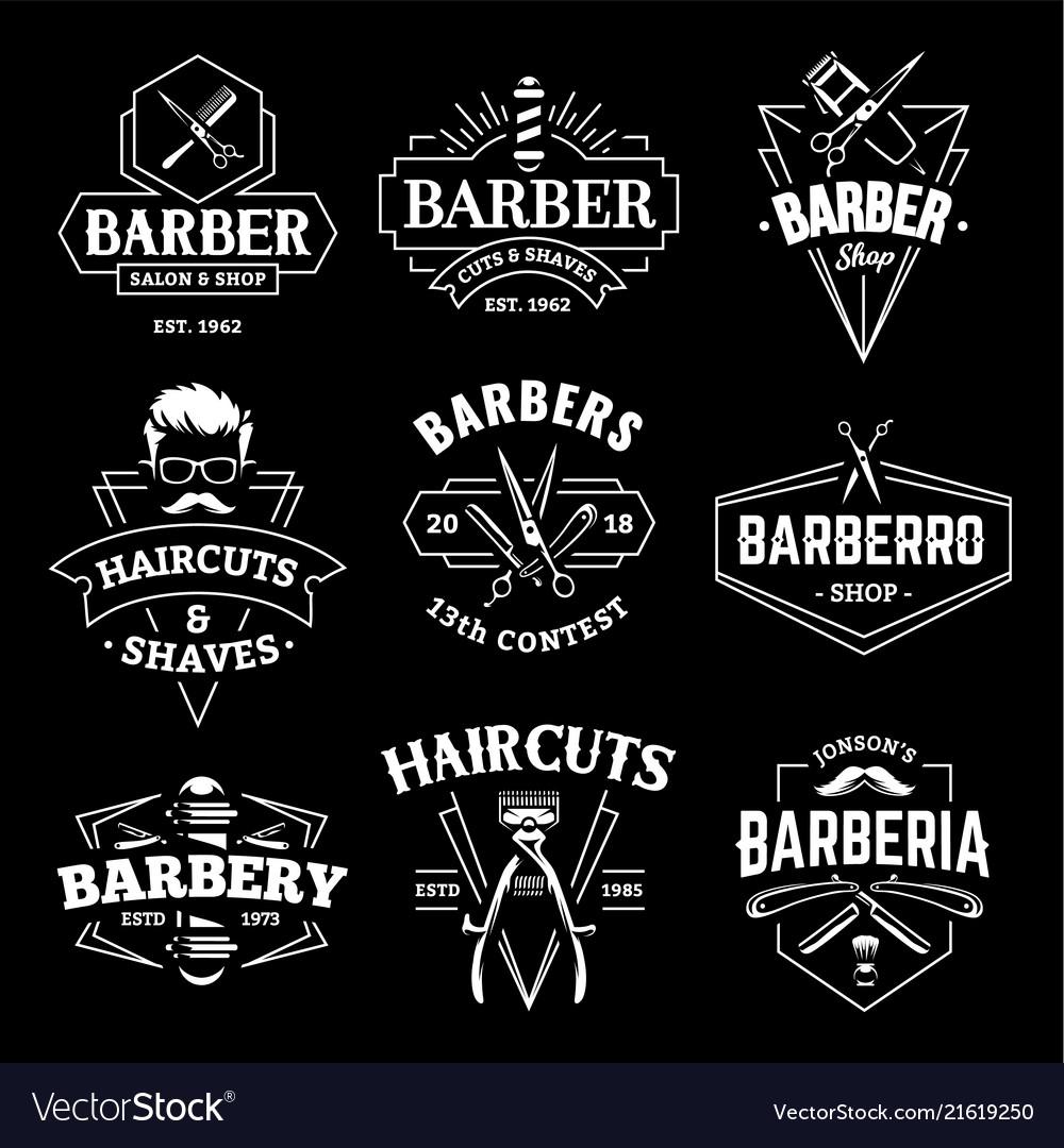 Barber shop retro emblems