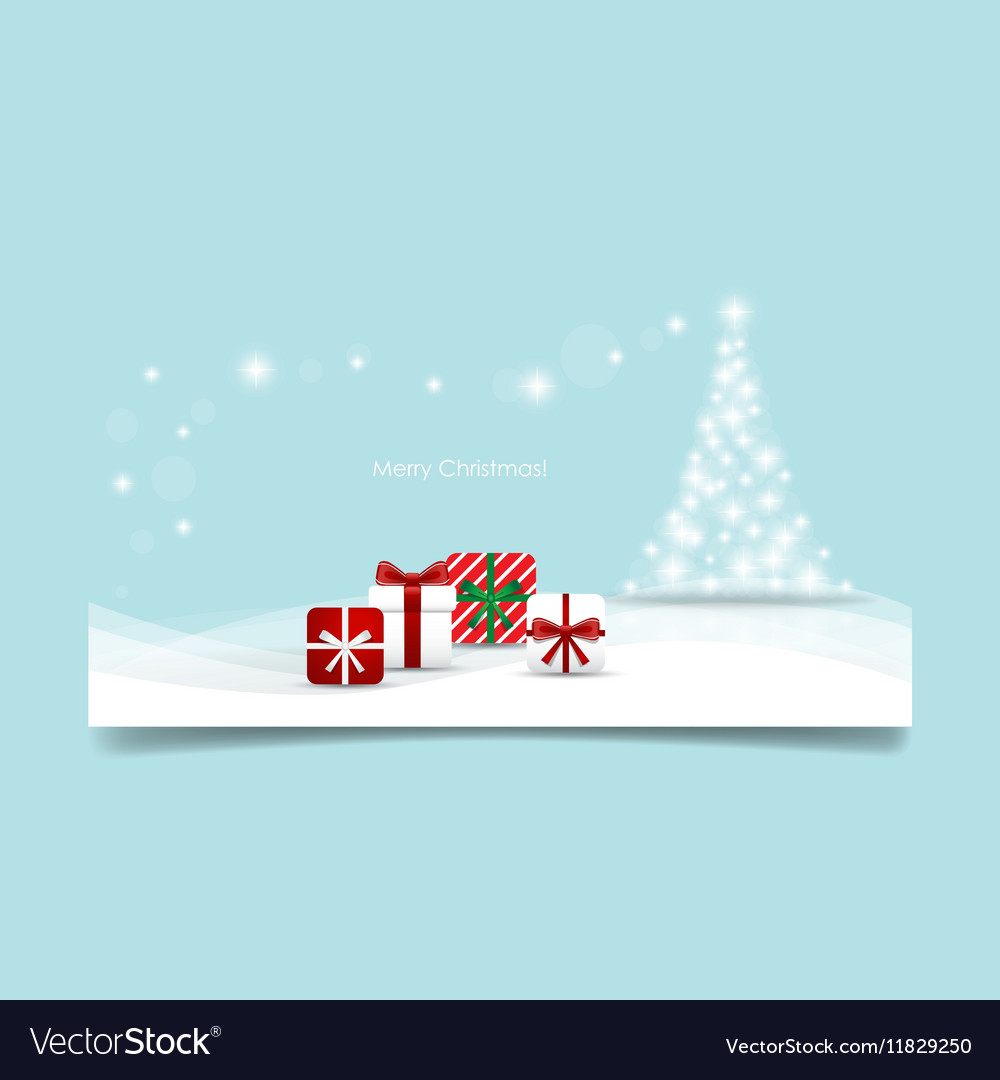 Christmas background with Christmas tree and