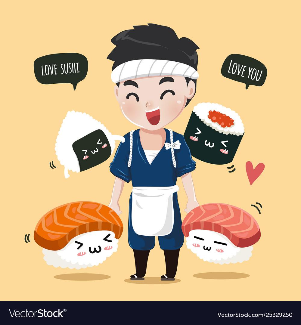 Cute firend sushi