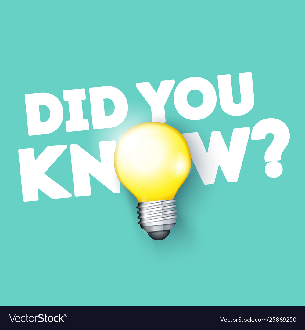 Did you know with bulb icon