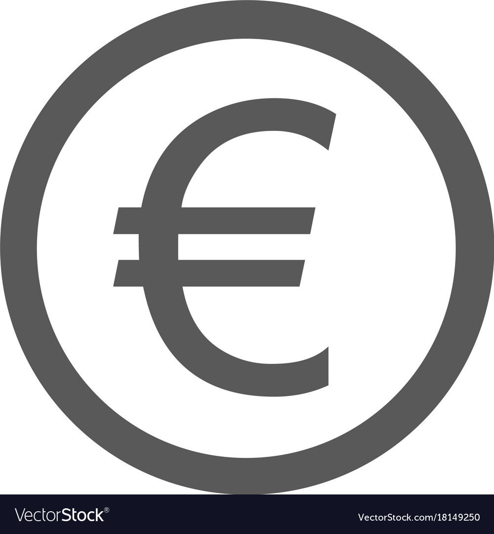 Euro Symbol Icon Simple Vector Image