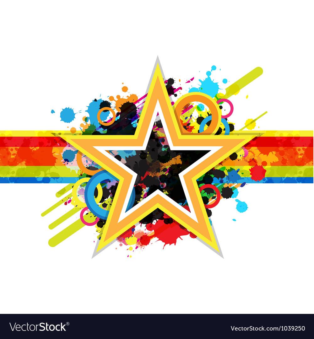 Fantastic star design background
