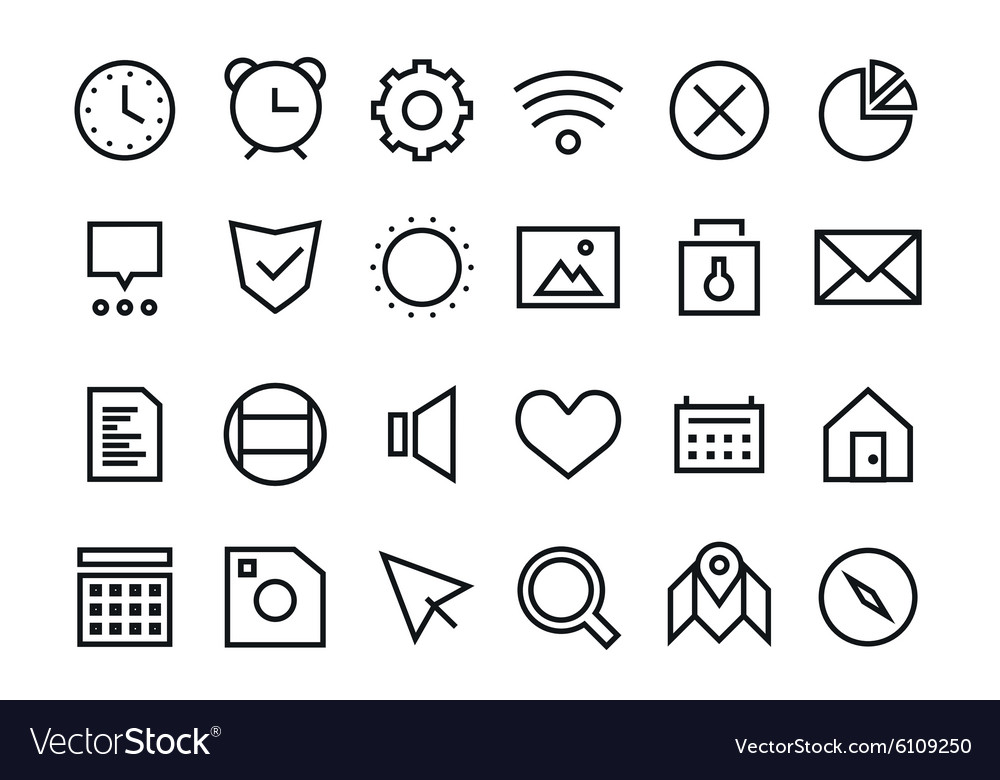 Outline UI user interface technology black