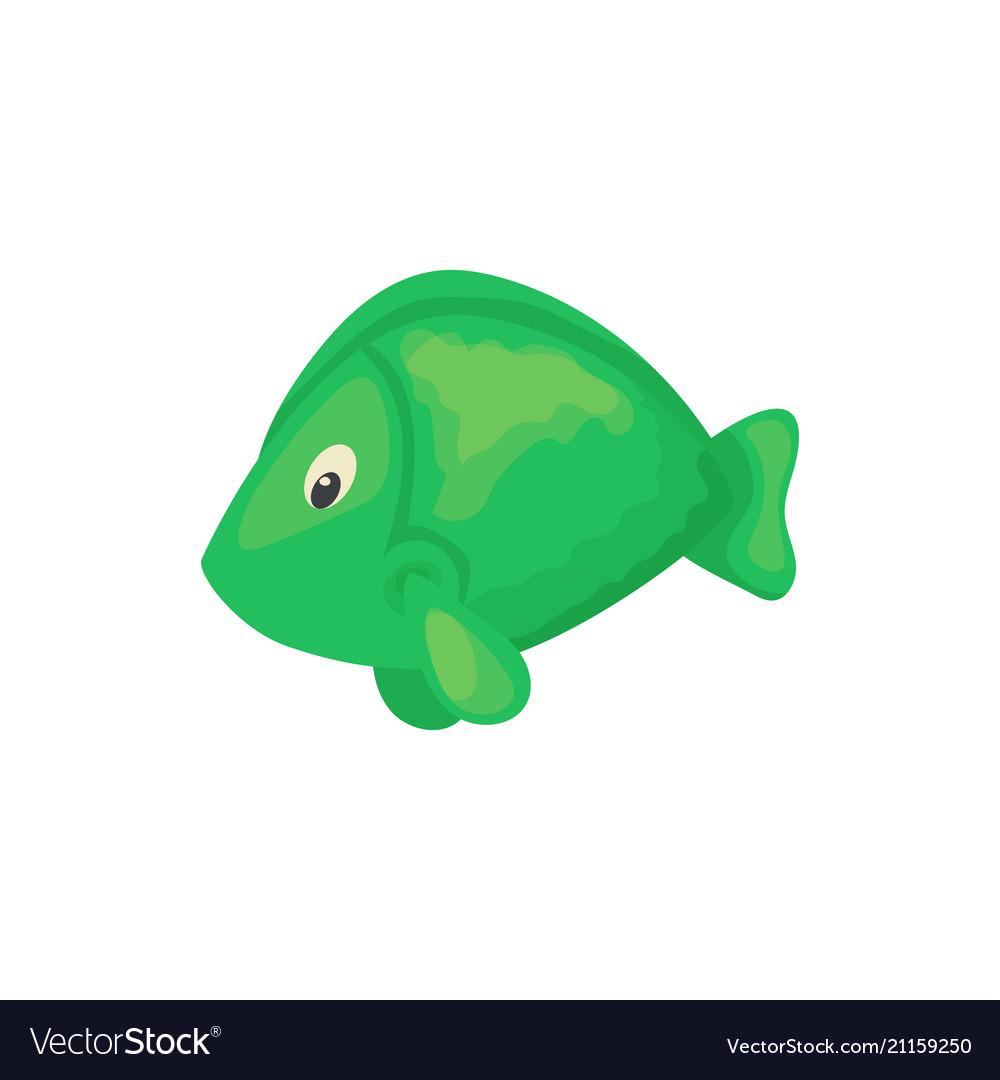 Sea fish aquarium cartoon animal character