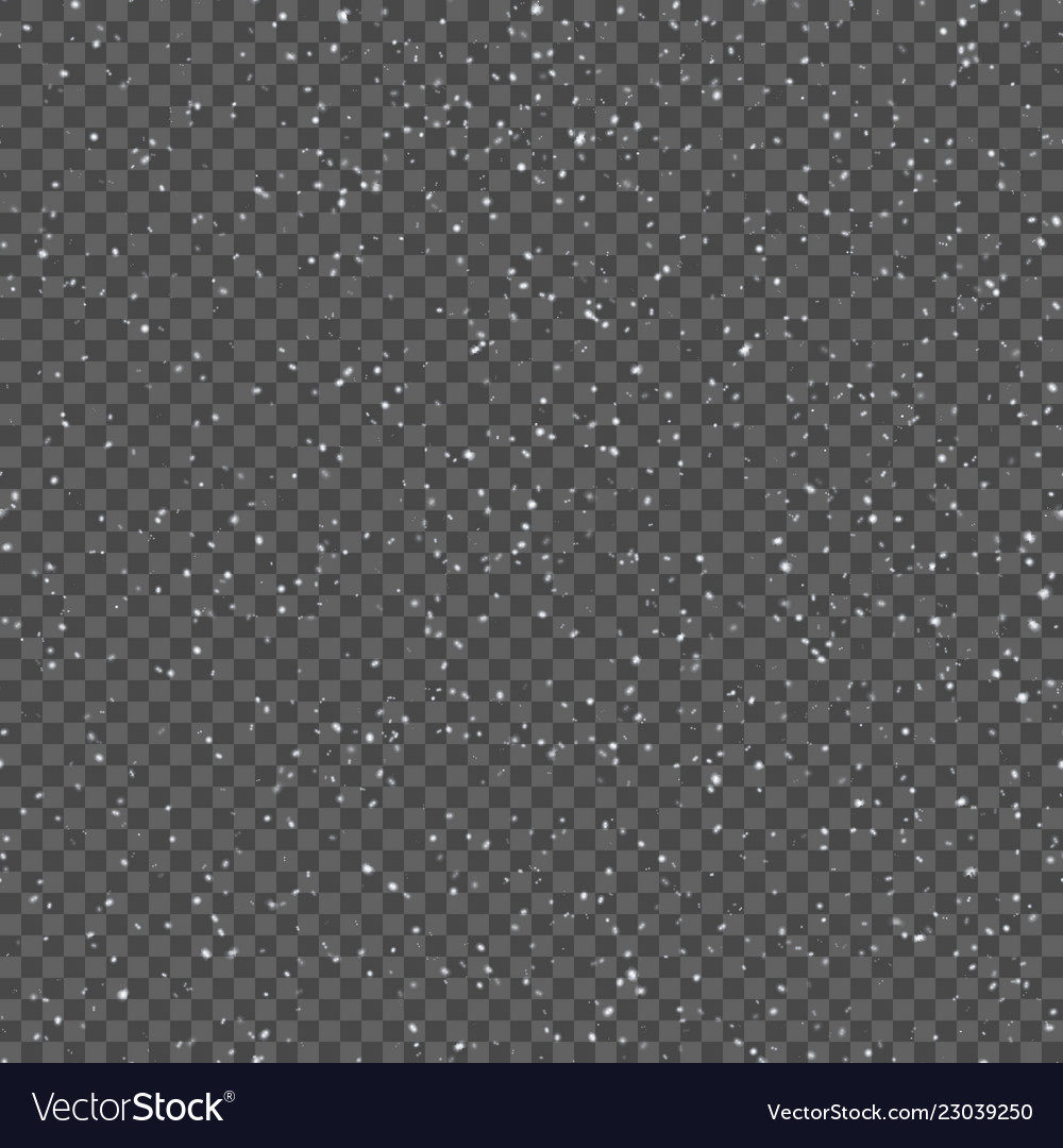 Seamless pattern with realistic falling snowflakes