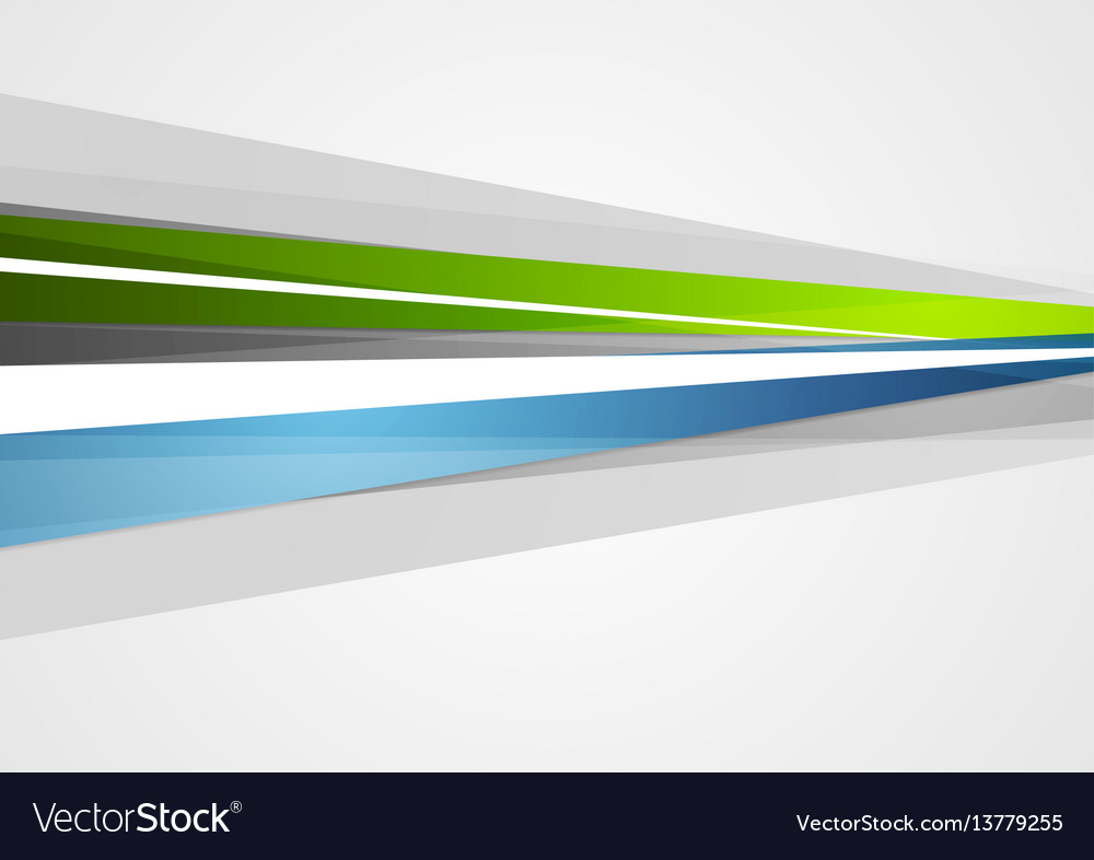 Abstract blue and green corporate stripes