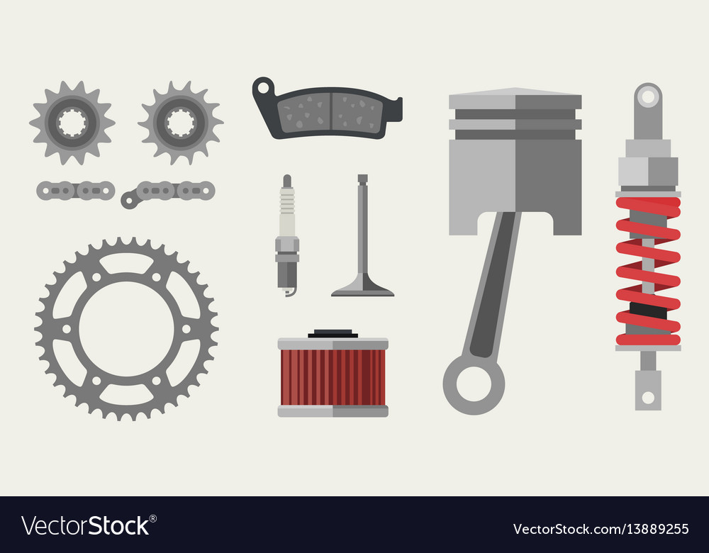 Auto and moto parts vector image