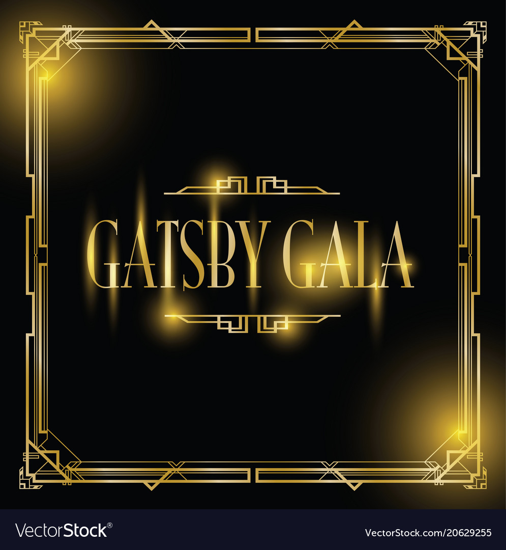 Great gatsby gala background royalty free vector image great gatsby gala background vector image stopboris Images