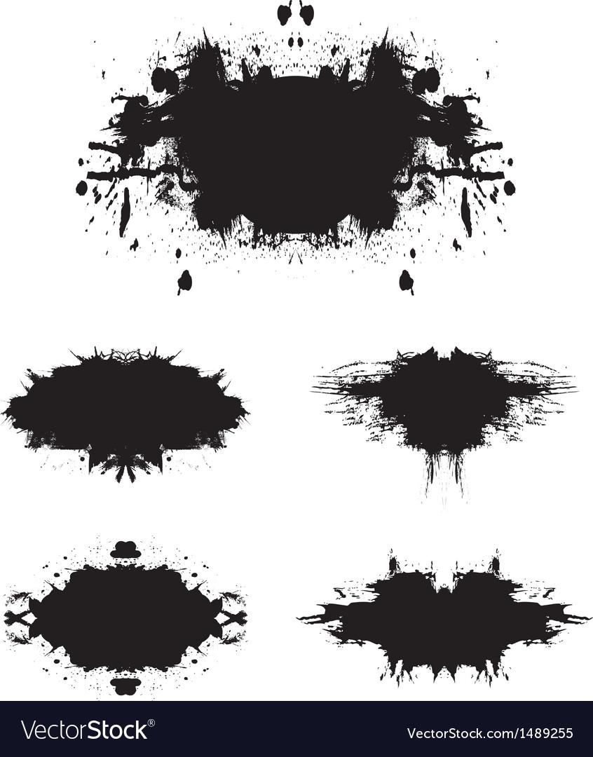 Grunge background set 1 vector image