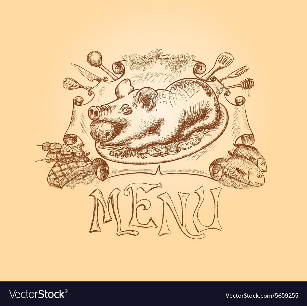 Hand drawn menu title design