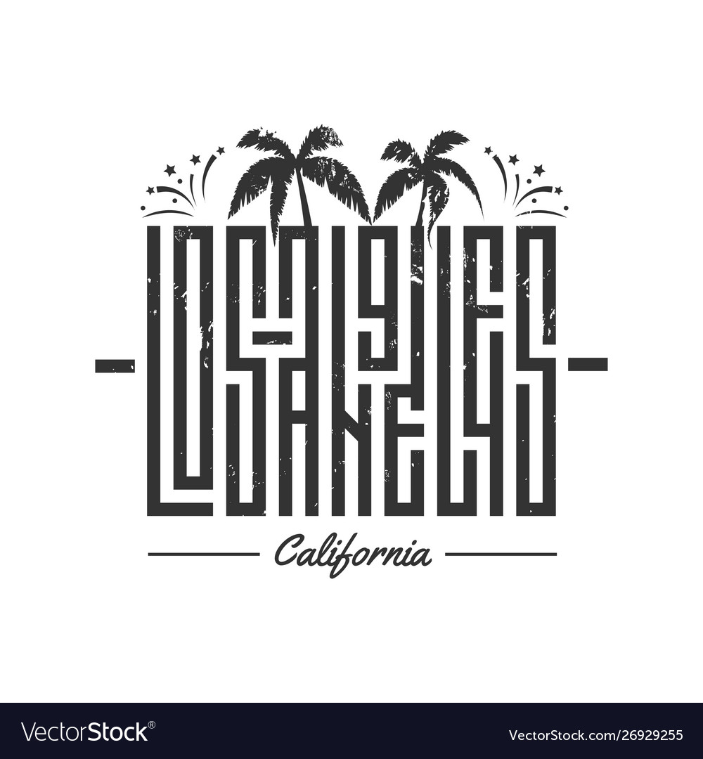 Los angeles lettering for card tee print