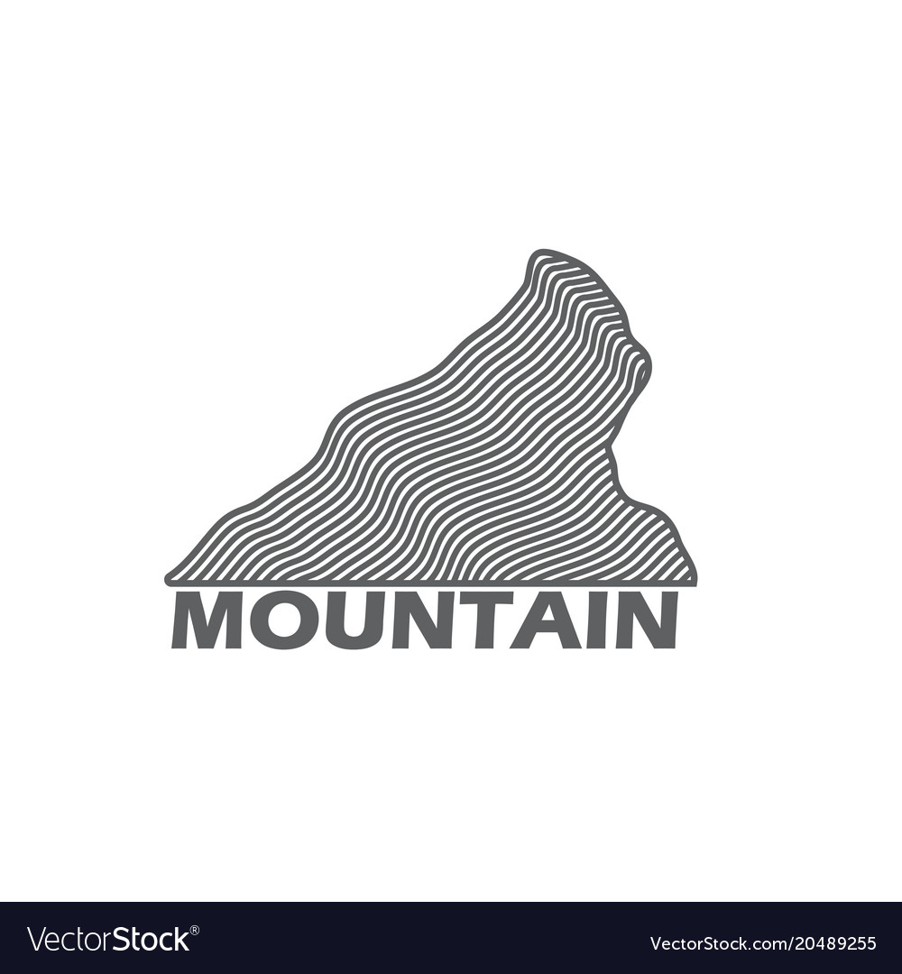 Monochrome emblem of nordic mountain