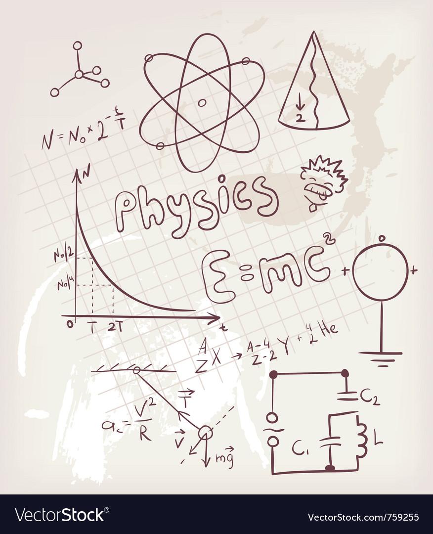 Physics vector image