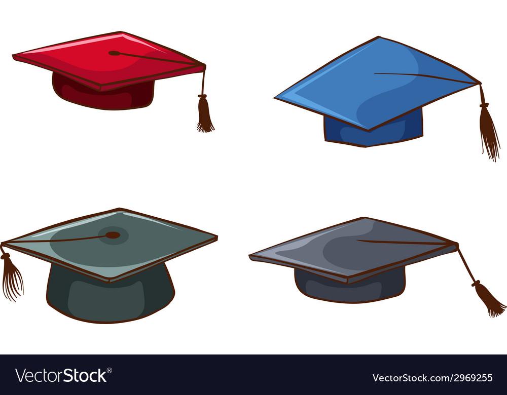 Simple sketches of graduation caps