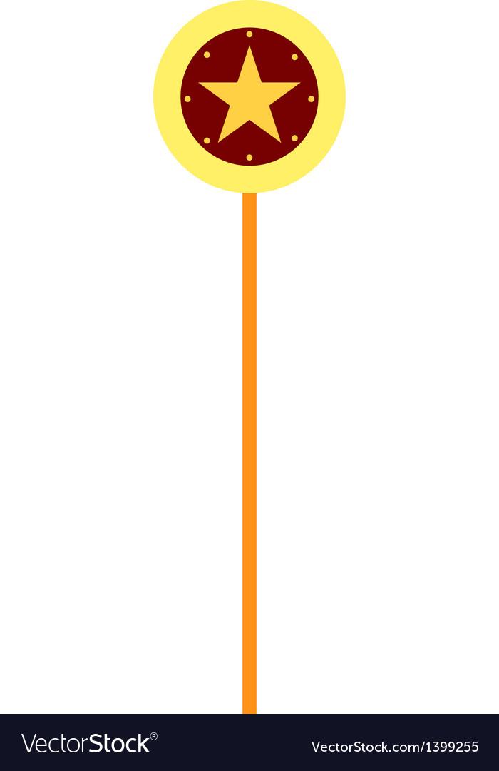 Star lollipop vector image