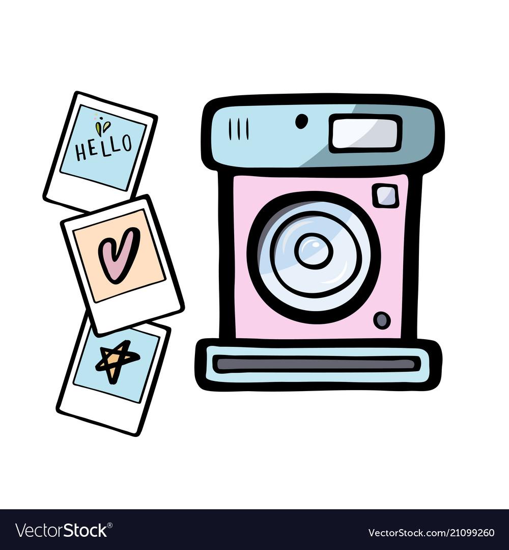 A retro photo camera