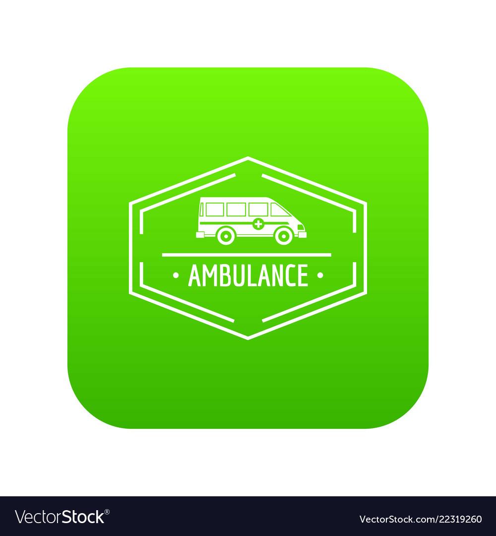 Ambulance newborn icon green