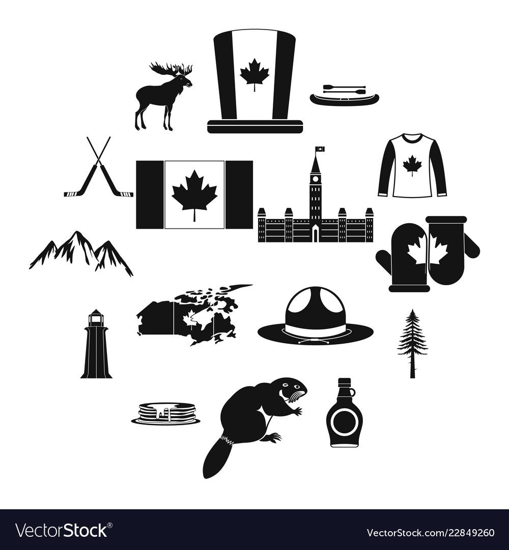 Canada icons black