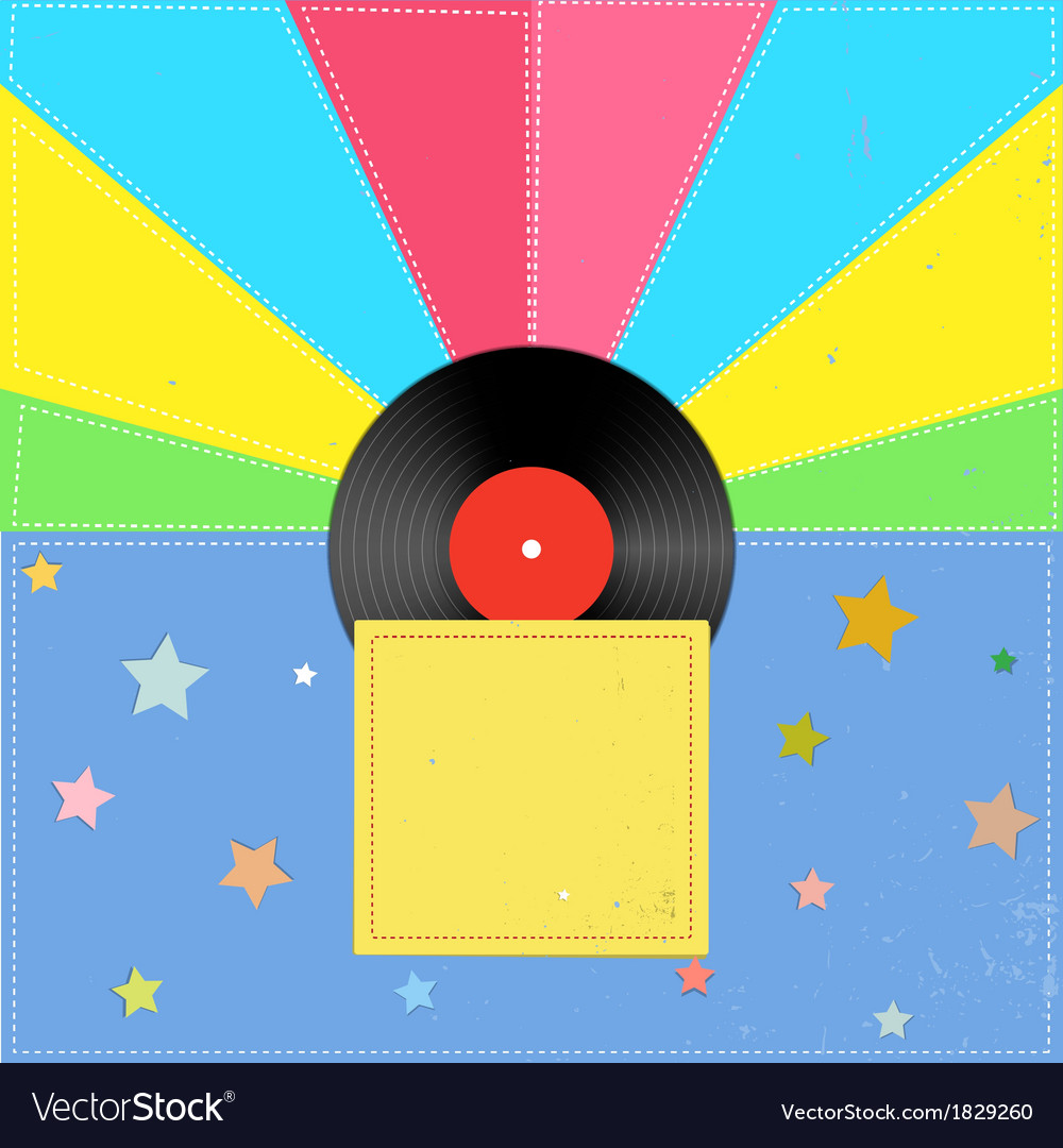 Music in the style of a retro vector image
