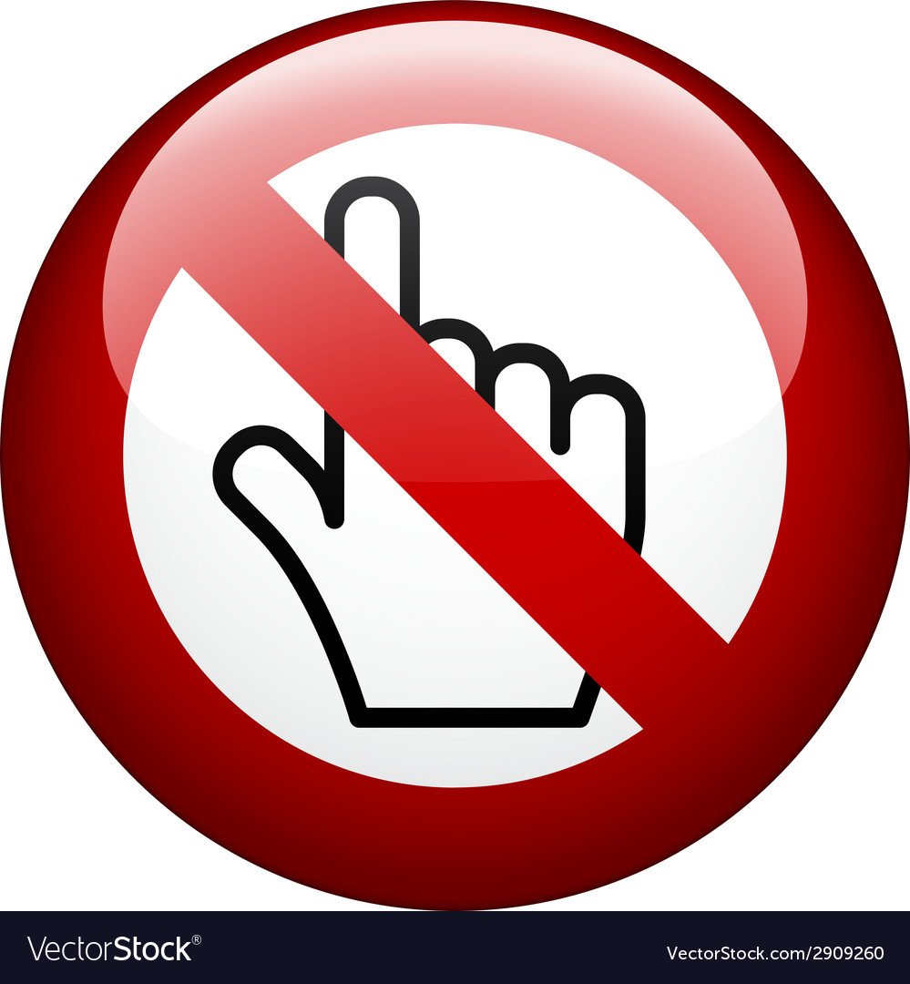 No touch mark vector image