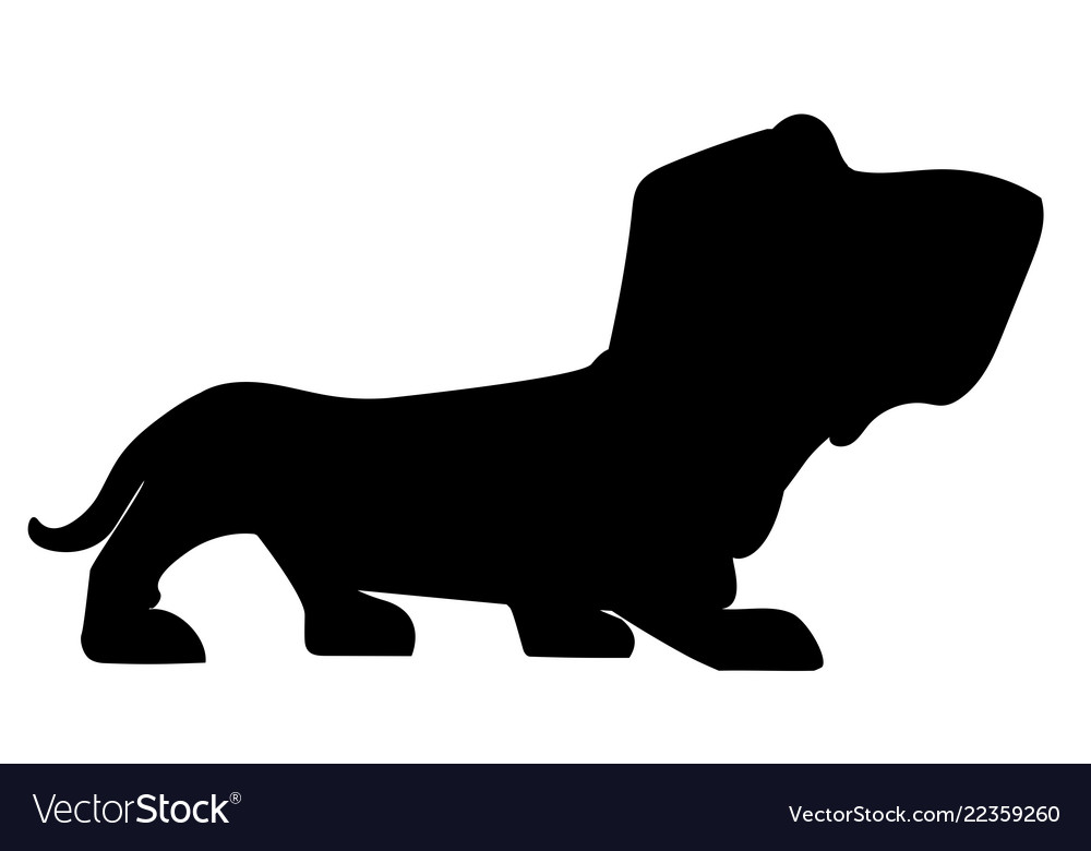 Silhouette basset-hound