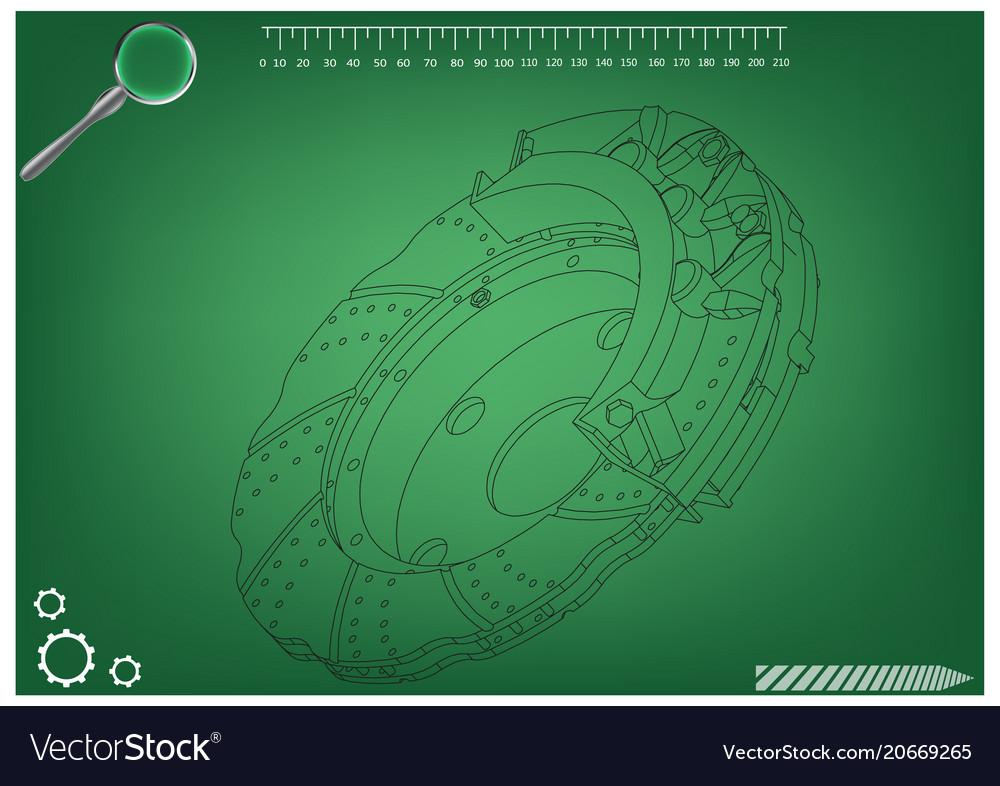 3d model of the brake disc