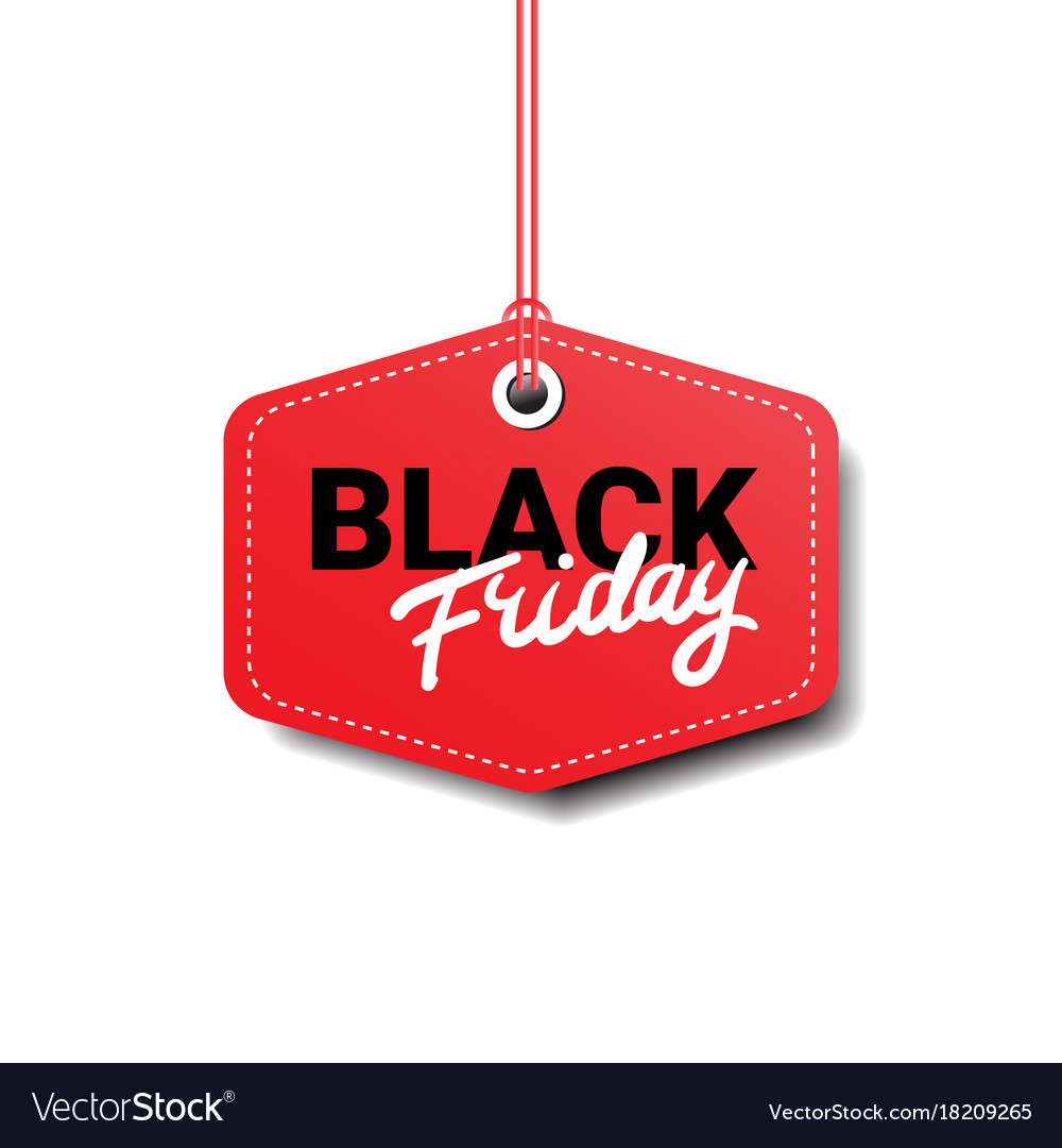 Black friday tag isolated big sale logo design