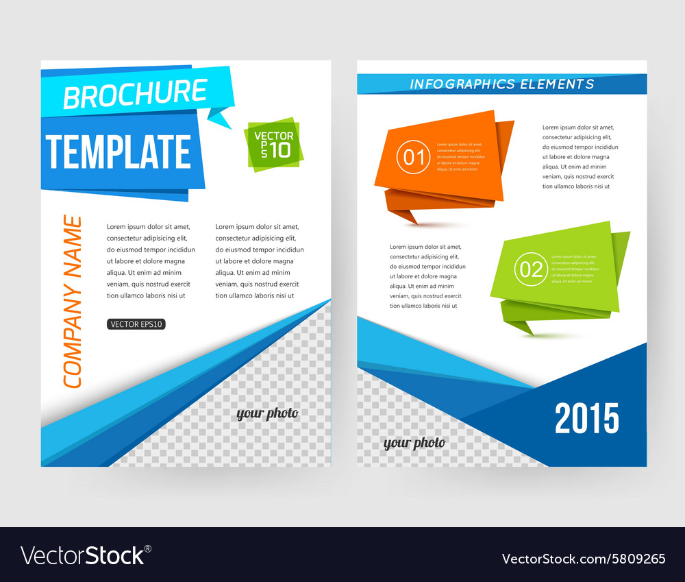 Corporate business stationery brochure template vector image friedricerecipe Choice Image